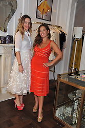 Left to right, ALICE TEMPERLEY and JADE JAGGER at the Frocks and Rocks party hosted by Alice Temperley and Jade Jagger at Temperley, Bruton Street, London on 25th April 2013.