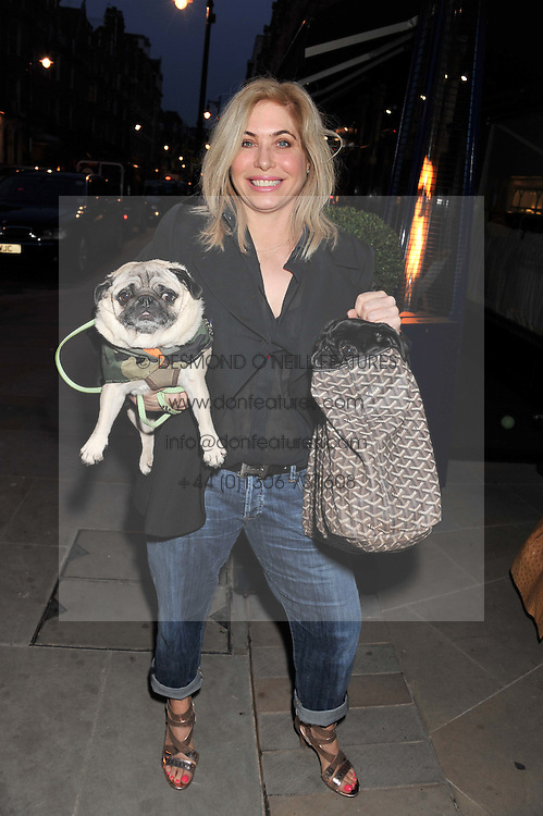 BRIX SMITH START and her dogs Pixie & Gladys at the launch of George's Dinner for Dogs menu in aid of The Dog's Trust held at George, 87-88 Mount Street, London on 19th March 2013.