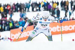 March 16, 2019 - Falun, SVERIGE - 190316  Calle Halvarsson of Sweden during the FIS Cross-Country World Cup on march 16, 2019 in Falun  (Credit Image: © Daniel Eriksson/Bildbyran via ZUMA Press)
