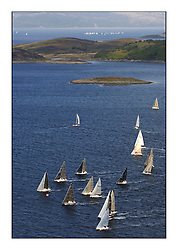 Day 2 of the Bell Lawrie Scottish Series with wild conditions on Loch Fyne for all fleets. Exhilarating and testing racing for Boats and crew...Aerial of IRC and One design fleets.