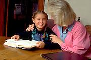 Mother age 35 tutoring daughter age 8.  St Paul  Minnesota USA