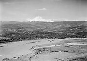 9305-B7012-2 Aerial of Mt. Hood & The Dalles about 1950