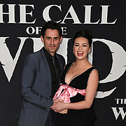 """13 February 2020 - Hollywood, California - Cara Gee and Husband Richard de Klerk at the World Premiere of twentieth Century Studios """"The Call of the Wild"""" Red Carpet Arrivals at the El Capitan Theater."""