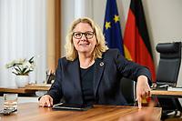 30 JUN 2021, BERLIN/GERMANY:<br /> Svenja Schulze, SPD, Bundesumweltministerin, waehrend einem Interview, in ihrem Büro, Bundesumweltministerium<br /> IMAGE: 20210630-01-013<br /> KEYWORDS: Büro