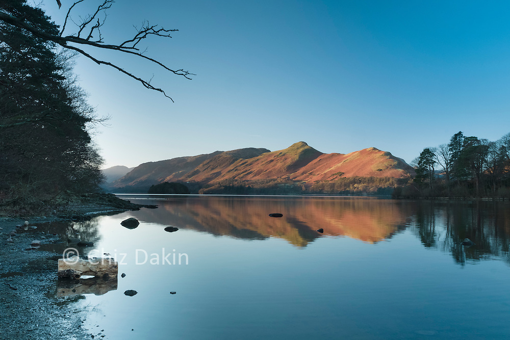 Early Morning view across Derwent Water to Catbells