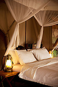 Tented accomodation at the luxury Cottars 1920s Safari Camp in the Cottars Conservancy, Kenya