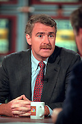 Rep. Tom Barrett, a member of the House Judicary committee discusses the upcoming impeachment hearings against President Clinton during NBC's Meet the Press October 11, 1998 in Washington, DC.