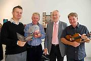 Micheál Óg Mac Aoidh Cúige Uladh Ealaín na Gaeltachta Teo.  Micheál Ó Fearraigh Cúige Uladh  Feidhmeannach Forbartha (Ealaíon), Pádraig Ó hAoláin Udaras and  Dermot McLaughlin, CEO, Temple Bar Cultural Trust - Culture Night Director  at the launch of the Gaeltacht Programme for Culture Night.  'Oíche Chultúir' features over 60 free cultural events throughout the Gaeltacht regions on the evening of Friday September 24th. Photo:Andrew Downes. Photo issued with Compiments, no reproduction fee.