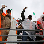 FAMU fans cheer as the Marching 100 band take the field during the Florida Classic NCAA football game between the FAMU Rattlers and the Bethune Cookman Wildcats at the Florida Citrus bowl on Saturday, November 22, 2014 in Orlando, Florida. (AP Photo/Alex Menendez)