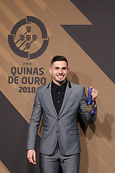 March 19, 2018 - Lisbon, Lisbon, Portugal - Portugal's futsal player Bruno Fernandes poses on arrival at 'Quinas de Ouro' 2018 ceremony held and the Pavilhao Carlos Lopes in Lisbon, on March 19, 2018. (Credit Image: © Dpi/NurPhoto via ZUMA Press)