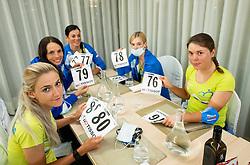 ZIGART Urska, PINTAR Urska, BUJAK Eugenia, KERN Spela and BRAVEC Urska at dinner of Team Slovenia during  UCI Road World Championship 2020, on September 24, 2020 in Hotel Lungomare, Rimini, Italy. Photo by Vid Ponikvar / Sportida