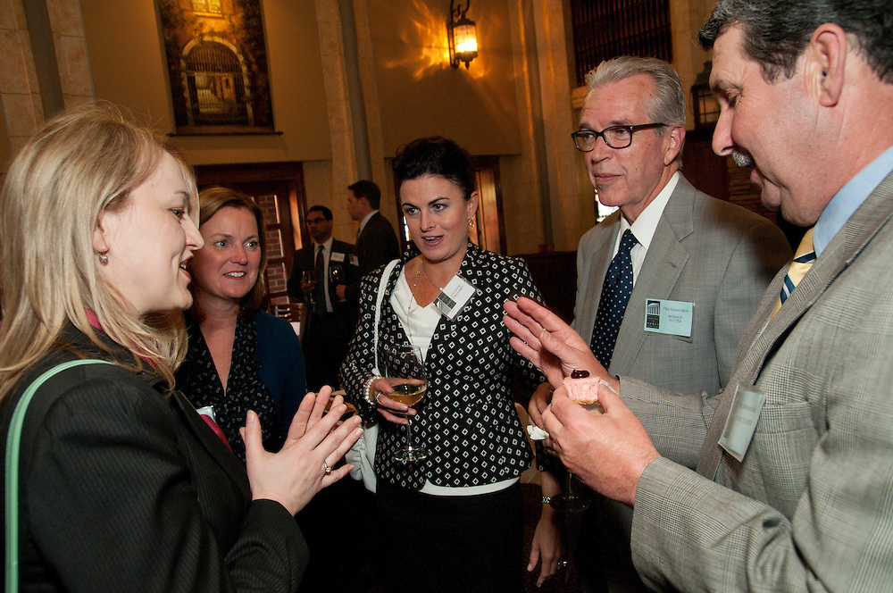 From left to right- Sole practicing Attorney Monika M. Blacha chats with Dupage County Associate Judge Karen M. Wilson, Assistant State's Attorney Ann Celine O'Hallaren, Dupage County Circuit Court Judge Hon. Ronald D. Sutter and Dupage County Chief Judge Hon. John T. Elsner during a Judges Reception hosted by the DuPage Association of Women Lawyers at Ivy Restaurant in west suburban Wheaton on Thursday, May 7th. © 2013 Brian J. Morowczynski ViaPhotos