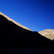 Early morning light on mountains in Death Valley National Park, California.