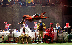 The Mad Hatter's Tea Party <br /> by Zoo Nation<br /> directed by Kate Prince<br /> presented by Zoo Nation, The Roundhouse & The Royal Opera House<br /> at The Roundhouse, London, Great Britain <br /> rehearsal <br /> 29th December 2016 <br /> <br /> <br /> Bradley Charles as the March Hare <br /> <br /> <br /> <br /> Photograph by Elliott Franks <br /> Image licensed to Elliott Franks Photography Services