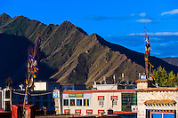Prayer flags, Lhasa, Tibet (Xizang), China.