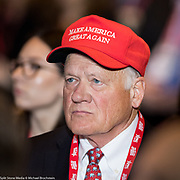 CPAC attendee wearing MAGA (Make America Great Again) hat at the Conservative Political Action Conference (CPAC) sponsored by the American Conservative Union held at the Gaylord National Resort & Convention Center in Oxon Hill, MD on February 23, 2018