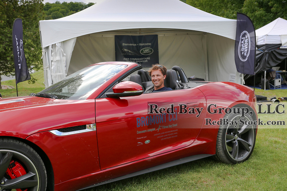 William Coleman checking out a Jaguar at the 2014 Jaguar Land Rover Bromont International Three Day Event in Bromont, Quebec.