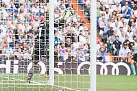 Levante's Raul Fernandez during La Liga match between Real Madrid and Levante UD at Santiago Bernabeu Stadium in Madrid, Spain September 09, 2017. (ALTERPHOTOS/Borja B.Hojas)