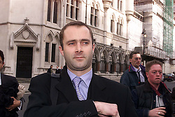 HIGH COURT, SPICE GIRLS CASE ..THE SPICE GIRLS SOLICITOR MIKE BROOKES LEAVING THE HIGH COURT AFTER  LOSING THE CASE.  February 24, 2000. Photo by Andrew Parsons / i-images..