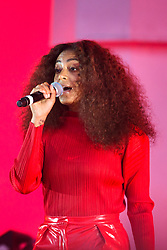 Solange performing during the Glastonbury Festival at Worthy Farm in Pilton, Somerset. Picture date: Saturday June 24th 2017. Photo credit should read: Matt Crossick/ EMPICS Entertainment.