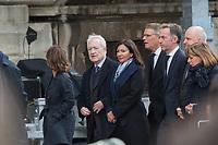 Jean Tiberi_Anne Hidalgo Obsèques de Jacques Chirac Lundi 30 Septembre 2019 église Saint Sulpice Paris