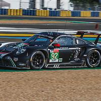 #92, Porsche 911 RSR (2019), Porsche GT Team, drivers: Michael Christensen, Kevin Estre, Laurens Vanthoor, LM GTE Pro, at the Le Mans 24H, 2020