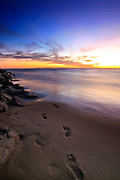 Footsteps in the Sand at Corona Del Mar Beach