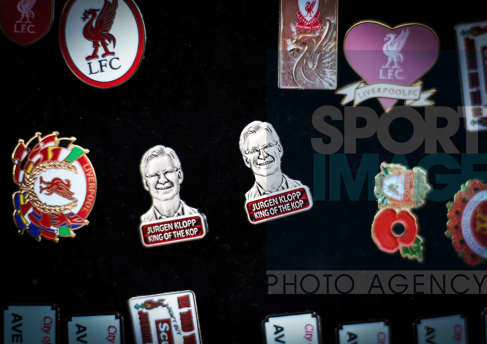 A bad example of a Jurgen Klopp pin during the Premier League match at Anfield Stadium, Liverpool. Picture date December 27th, 2016 Pic David Klein/Sportimage