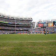A general view of a packed Yankee Stadium during the New York City FC Vs New York Red Bulls, MSL regular season football match at Yankee Stadium, The Bronx, New York,  USA. 28th June 2015. Photo Tim Clayton