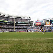 A general view of a packed Yankee Stadium during the New York City FC Vs New York Red Bulls, MSL regular season football match at Yankee Stadium, The Bronx, New York,  USA. 28th June 2015. Photo Tim Clayton