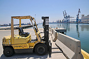 Forklift truck at the Port of Haifa, Haifa, Israel