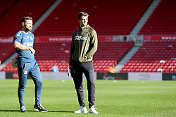 Leeds United's Patrick Bamford on the pitch at Middlesbrough's Riverside Football Stadium before the Sky Bet Championship match at The Riverside Stadium, Middlesbrough.