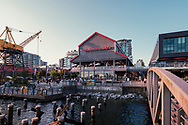 Lonsdale Quay Cityscape North Vancouver British Columbia Canada. Lonsdale Quay is where you'll find the SeaBus terminal and Lonsdale Quay Public Market. Close by are The Shipyards District, Waterfront Park and many restaurants.