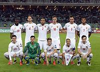 Fotball ,  BAKU, Oct. 9, 2016 -- Team of Norway poses before the FIFA World Cup WM Weltmeisterschaft Fussball 2018 qualification match between Norway and Azerbaijan in Baku, Azerbaijan, Oct. 8, 2016. Azerbaijan beat Norway 1-0.) (SP)AZERBAIJAN-BAKU-FIFA WORLD CUP 2018-QUALIFIER <br /> Norway only<br /> Aserbajdsjan - Norge 1-0<br /> INNGÅR IKKE I FASTAVTALER , KUN STYKKPRIS