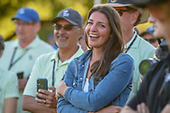 Corey Conners' (CAN) wife, Malory is all smiles and tears after he won the Valero Texas Open, at the TPC San Antonio Oaks Course, San Antonio, Texas, USA. 4/7/2019.<br /> Picture: Golffile | Ken Murray<br /> <br /> <br /> All photo usage must carry mandatory copyright credit (© Golffile | Ken Murray)