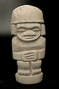 Pre-Columbian art on black background