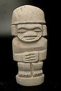 Pre-Columbian art on black background