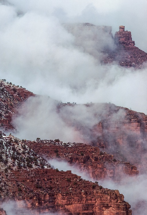 Canyon clouds, winter, South Rim, Grand Canyon National Park, Arizona, USA