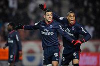 FOOTBALL - FRENCH CHAMPIONSHIP 2009/2010 - L1 - PARIS SAINT GERMAIN v FC LORIENT - 6/02/2010 - PHOTO GUY JEFFROY / DPPI - MEVLUT ERDING / GUILLAUME HOARAU (PSG)