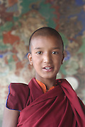 India, Ladakh region state of Jammu and Kashmir, Spituk monastery. A young female priest