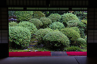 Anrakuji - its full name Shishigatani Jurenzan Anrakuji is near the Philosopher Path of Kyoto.  Anraku-ji is only open a few weeks per year in spring and in autumn. Its most outstanding feature is the garden composed of shrubs.