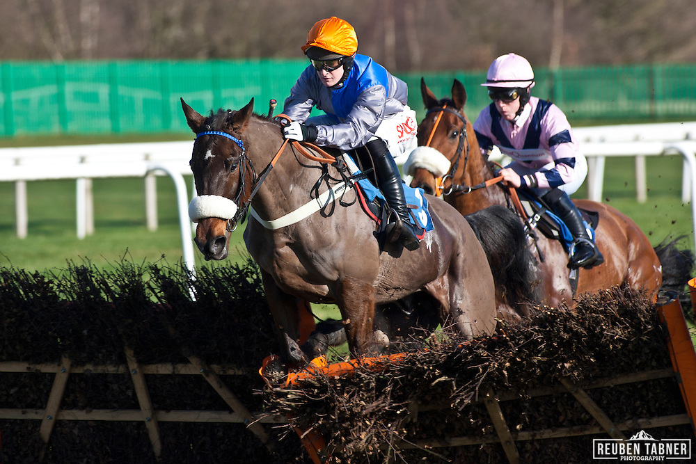 2:15pm Newcastle...Reindeer Dippin, ridden by Henry Brooke..Owner: Sangrounders.Trainer: Donald McCain, Cholmondeley.