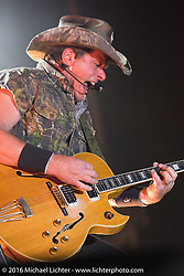 Ted Nugent performs at Laconia Fest during Laconia Motorcycle Week 2016. NH, USA. Friday, June 17, 2016.  Photography ©2016 Michael Lichter.