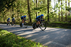 Linda Villumsen leads Veloconcept at the Crescent Vargarda - a 42.5 km team time trial, starting and finishing in Vargarda on August 11, 2017, in Vastra Gotaland, Sweden. (Photo by Sean Robinson/Velofocus.com)