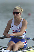 Seville, Andulucia, SPAIN<br /> <br /> 2002 World Rowing Championships - Seville - Spain Sunday 15/09/2002<br /> <br /> GBR LW 1X Kirsten McClelland-Brooks<br /> <br /> [Mandatory Credit:Peter SPURRIER/Intersport Images]