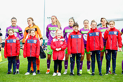 Loren Dykes of Bristol City, Sophie Baggaley of Bristol City, Julie Biesmans of Bristol City, Carla Humphrey of Bristol City, Lucy Graham of Bristol City and Ella Rutherford of Bristol City - Mandatory by-line: Ryan Hiscott/JMP - 14/10/2018 - FOOTBALL - Stoke Gifford Stadium - Bristol, England - Bristol City Women v Birmingham City Women - FA Women's Super League 1