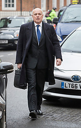 © Licensed to London News Pictures.23/03/2017.London, UK. Former Pensions Secretary Iain Duncan Smith walks to Parliament through back streets, the day after a lone terrorist killed 4 people and injured several more, in an attack using a car and a knife. The attacker managed to gain entry to the grounds of the Houses of Parliament, killing one police officer.Photo credit: Peter Macdiarmid/LNP
