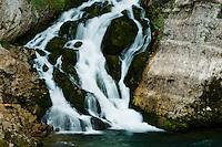 Savica waterfall (Slap Savica), detail<br /> Triglav National Park, Slovenia<br /> August 2009
