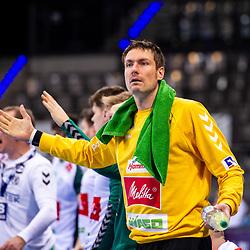 Carsten Lichtlein (TSV GWD Minden #1) ; 1. Handball Bundesliga: TVB Stuttgart - TSV GWD Minden am 10.12.2020 in Stuttgart (PORSCHE Arena), Baden-Wuerttemberg, Deutschland<br /> <br /> Foto © PIX-Sportfotos *** Foto ist honorarpflichtig! *** Auf Anfrage in hoeherer Qualitaet/Aufloesung. Belegexemplar erbeten. Veroeffentlichung ausschliesslich fuer journalistisch-publizistische Zwecke. For editorial use only.