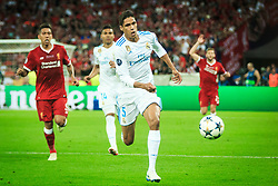 Raphaël Varane of Real Madrid in action during the UEFA Champions League final football match between Liverpool and Real Madrid at the Olympic Stadium in Kiev, Ukraine on May 26, 2018.Photo by Sandi Fiser / Sportida